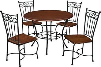 Dorel Home Products Dorel Living 5-Piece Wood and Metal Cafe-Style Dinette Set for Kitchen or Living Room