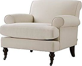 Jennifer Taylor Home 63360-1-970 Alana Lawson Fabric Living Room Chair, Sky Neutral