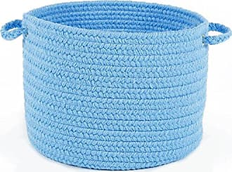 Rhody Rug Fun Braids Solid Aqua Blue 14 x 10 Basket