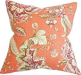 The Pillow Collection Eluned Floral Bedding Sham Orange European/26 x 26