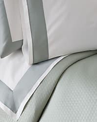 SFERRA Modern Sateen Applique Full/Queen Flat Sheet