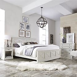 The Gray Barn Riverbone X-detail King Bed, Nightstand, and Chest (Seaside Lodge King Bed, Night Stand, and Chest)
