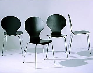 Inter Link SAS Conjunto 4 Cadeiras Formici Inter Link Preto