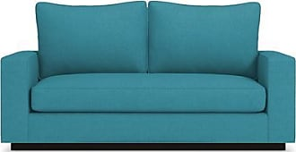 Apt2B Harper Twin Size Sleeper Sofa - Leg Finish: Espresso - Sleeper Option: Deluxe Innerspring Mattress - Teal Performance Fabric - Sold by Apt2B - Mo