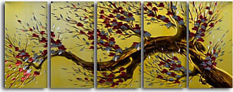 Omax Decor Tree of Liberty 5-Piece Handmade Metal Wall Art Set - MC5072