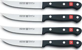 Wüsthof WÜSTHOF Gourmet Four Piece Steak Knife Set (Blister Pack) | 4-Piece German Knife Set | Precise Laser Cut High Carbon Stainless Steel Kitchen Steak Knife Set - Model 8464