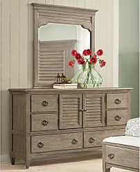 Round Hill Furniture Roubai 6 Drawer Dresser with Mirror and 2 Doors - B590DM