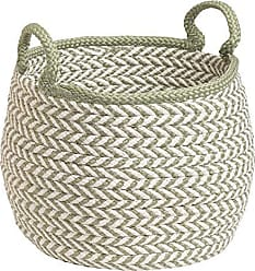 Colonial Mills Preve Basket, 12x12x12, White & Green
