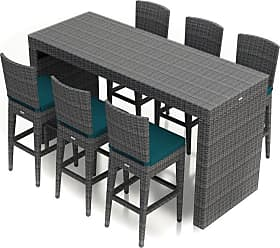 Harmonia Living Outdoor Harmonia Living District 7 Piece Patio Bar Set - HL-DIS-TS-7BS-PC