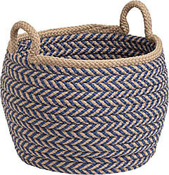 Colonial Mills Preve Basket, 18x18x17, Taupe & Blue
