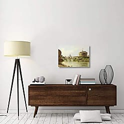 Bentley Global Arts Global Gallery Budget GCS-267773-30-142 Antonietta Brandeis The Tiber with The Castel SantAngelo and St.Peters Rome Gallery Wrap Giclee on Canvas Wall Art Print