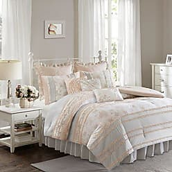 Madison Park Serendipity Full Size Bed Comforter Set Bed in A Bag - Coral, Floral - 9 Pieces Bedding Sets - 100% Cotton Bedroom Comforters