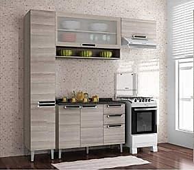 Itatiaia Cozinha Compacta com Balcão e Tampo 4 Peças Itatiaia Coimbra Bege