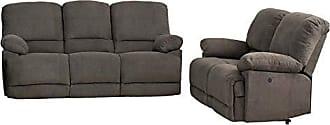 CorLiving LZY-332-Z2 Lea Collection Reclining Sofa Set, Grey