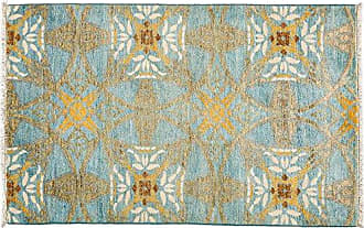 Solo Rugs M1811-375 Suzan Area Rug Hand Knotted Area Rug, 3 2 X 5 1, Blue