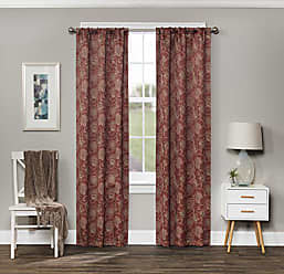 Ellery Homestyles KOZDIKO Eclipse Amara Blackout Window Curtain Panel, 37 x 84, Brick