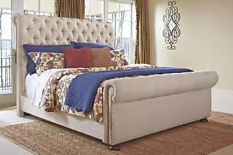 Ashley Furniture Windville King Upholstered Sleigh Bed, Linen