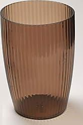 Ben&Jonah Ben & Jonah Ribbed Acrylic Waste Basket in Brown Splash Collection by Ben&Jonah