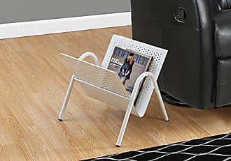 Monarch Specialties Monarch Metal Magazine Rack, White