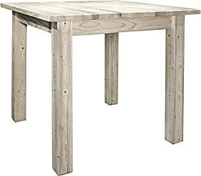 Montana Woodworks MWHCDT4PSV36 Homestead Collection Counter Height Square 4 Post Dining Table, Clear Lacquer Finish
