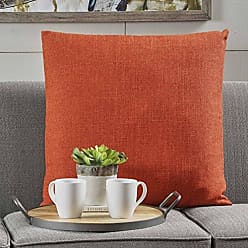 Christopher Knight Home 301608 Soyala Soft Smooth Fabric Throw Pillow (Muted Orange)