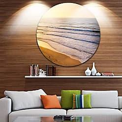 DESIGN ART Designart MT10843-C11 Metal Wall Art Disc of 11 inch 11 H x 11 W x 1 D 1P Blue/Orange
