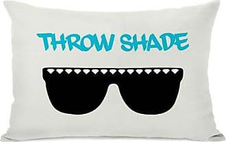 One Bella Casa Throw Shade Sunglasses Throw Pillow by OBC, 14x 20, Ivory/Black/Aqua