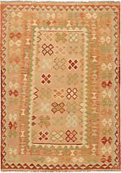 Nain Trading Kilim Afghan Rug 70x50 Beige/Pink (Afghanistan, Wool, Handwoven)