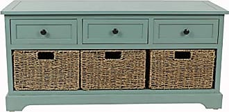 Decor Therapy FR6297 Montgomery Bench, Antique Iced Blue
