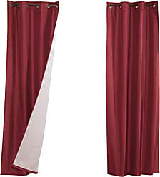 United Curtain Vintage Faux Silk Blackout Window Panel Pair, 80 by 84, Burgundy, 80 X 84