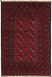 Nain Trading Afghan Akhche Rug 411x34 Dark Brown/Purple (Afghanistan, Hand-Knotted, Wool)