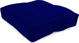 Jordan Manufacturing Company Classic Tufted Floor Cushion w/Handle, 20 Sq, Midnight Navy