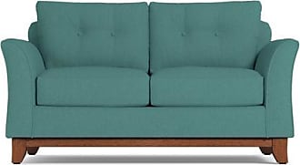 Apt2B Marco Twin Size Sleeper Sofa - Leg Finish: Pecan - Sleeper Option: Deluxe Innerspring Mattress - Teal Poly Blend - Sold by Apt2B - Modern Couch M