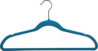 Richards Homewares SOFTGRIP/Tiffany set/35 Soft Grip Anti Slip, Space-Saving Suit Hangers, Blue, Set of 35
