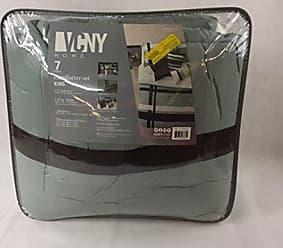VCNY Home VCNY Home Berkley Striped Print 7 Piece Bedding Comforter Set, King 104 X 90, Blue/Chocolate
