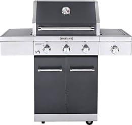 KitchenAid 3 Burner Propane Gas Slate Grill with Side Burner - 720-0953A