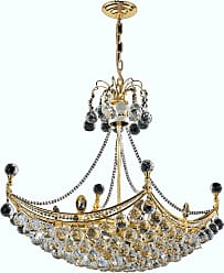Worldwide Lighting W83025G28 8 Light 1 Tier 28 Gold Chandelier with
