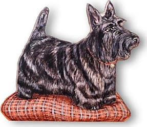 The Stupell Home Décor Collection Stupell Home Décor Scottie Decorative Dog Door Stop, 13.5 x 0.5 x 14.5, Proudly Made in USA