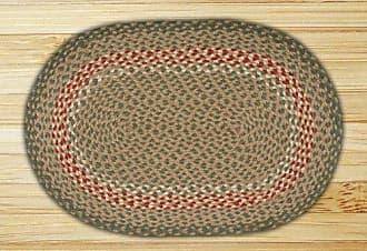 Earth Rugs 03-009 Rug, 27 x 45, Green/Burgundy