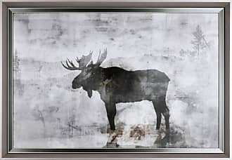 Art Maison Canada The Moose XI Framed Animal Print Wall Art - HAYIM947A
