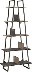 Bush Furniture Furniture Rustic Gray Refinery A Frame Bookshelf
