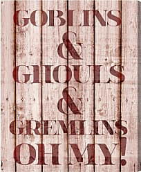Hatcher & Ethan Goblins and Ghouls Canvas Wall Art - 14861_17X20_CANV_XHD_HE
