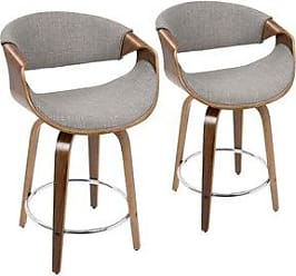 Carson Carrington Falun Mid-century Modern Counter Stools (Set of 2) (Light grey)