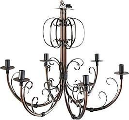 Libertas Rosas Artesanato Luminária de Ferro para Teto de Cozinha Rústica Envelhecido Lâmpadas