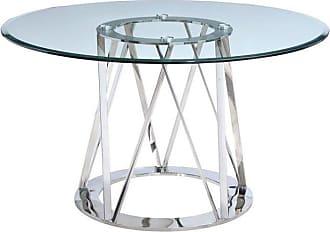 Whiteline Hanover Round Dining Table - DT1468