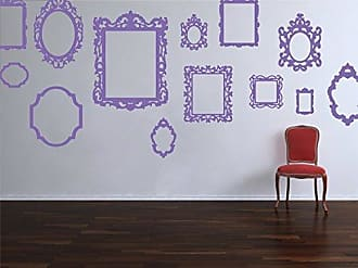 The Decal Guru Antique Style Picture Frame Stickers Removable Vintage Decorative Vinyl Decals for Home Decor Wall Art (Lavender, 56x56 inches)