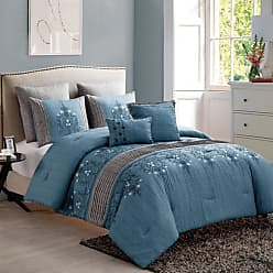 VCNY Grace 7 Piece Comforter Set by Victoria Classics, Size: Queen,King - GCE-7CS-KING-IN-BL
