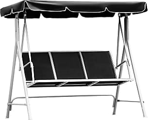 Costway 3 Persons Patio Powder Finish Canopy Deck Swing Bench