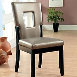 FURNITURE OF AMERICA 247SHOPATHOME IDF-3320SC Dining-Chairs Black