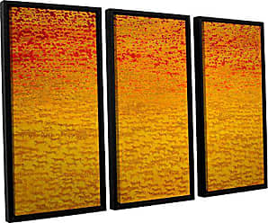ArtWall Charlie Bairds About 2500 Tigers, 2008, 3 Piece Floater Framed Canvas Set, 36 x 54